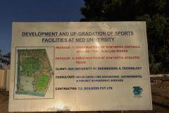 Development & Upgradation Of Sports Facilities At Ned University Of Engineering & Technology Karachi