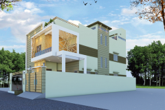 Home Designning, 3-D Views Plot # B-9 Bungalow 400 Square Yard At Pakistan Scientist Co-Operative Housing Society