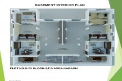 Home Designning, 3-D Views Plot # D-72 Bungalow 1000 Square Yard At F.B Area